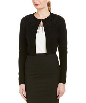 Elie Tahari Wool Cardigan In Black