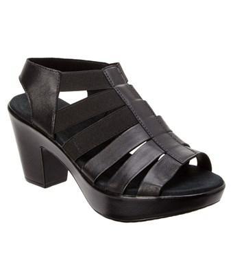 Munro Cookie Leather Platform Sandal In Black