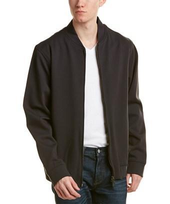 Armani Collezioni Blouson Jacket In Black