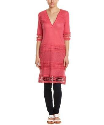 Cullen Linen Tunic Dress In Pink