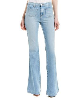 J Brand Demi Beach Line High Patch Flare Leg In Blue