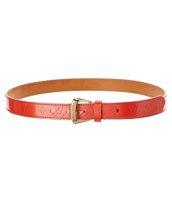 Louis Vuitton Orange Monogram Vernis Leather Ceinture Belt (size 38) In Nocolor