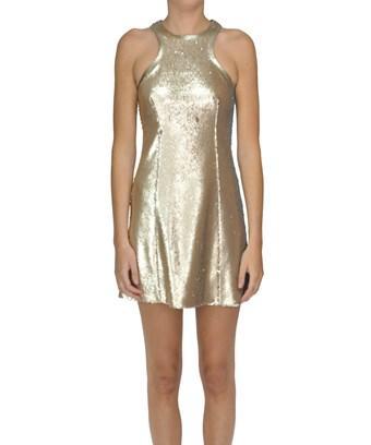 Dondup Women's  Gold Polyester Dress