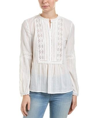 Rebecca Taylor Gauze Top In White
