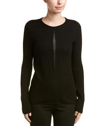 Elie Tahari Wool Sweater In Black