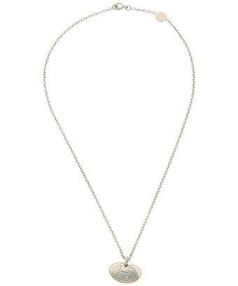 Hermes Silver-tone H Necklace In Nocolor