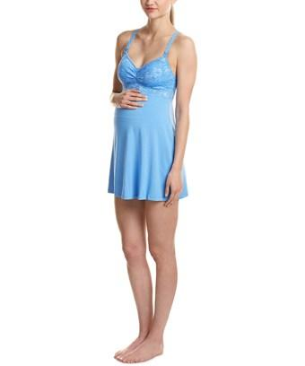 Cosabella Maternity Never Say Never Babydoll In Blue