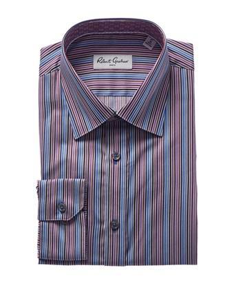 Robert Graham Aric Modern Fit Dress Shirt In Purple