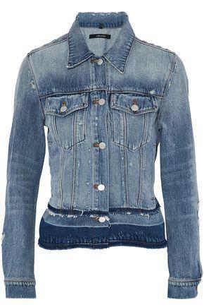 J Brand Woman Distressed Denim Jacket Light Denim