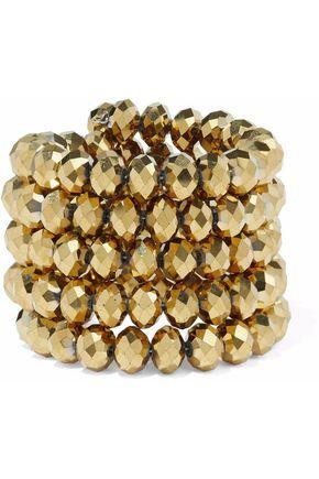 Kenneth Jay Lane Woman Gold-tone Beaded Bracelet Gold