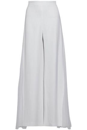 Cushnie Et Ochs Woman Silk Georgette-paneled Crepe Wide-leg Pants White
