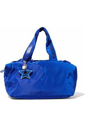See By ChloÉ Woman Leather-trimmed Shell Gym Bag Royal Blue