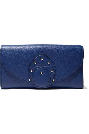 See By ChloÉ Woman Stud-embellished Textured-leather Wallet Royal Blue