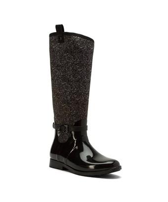 Michael Michael Kors Womens Charm Stretch Rainboot Rubber Closed Toe Mid-calf... In Black