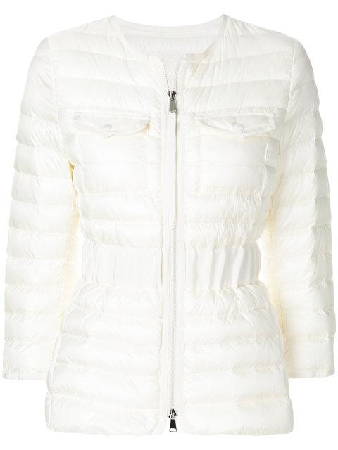 Moncler Fitted Padded Jacket - White