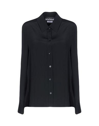 Boutique Moschino Solid Color Shirts & Blouses In Black