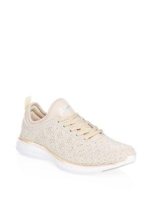 Apl Athletic Propulsion Labs Techloom Lace-up Sneakers In Champagne