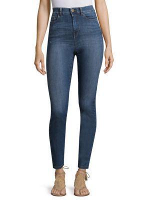 Weekend Max Mara High-waist Jeans In Midnight Blue
