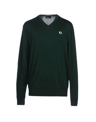 Fred Perry Sweaters In Dark Green