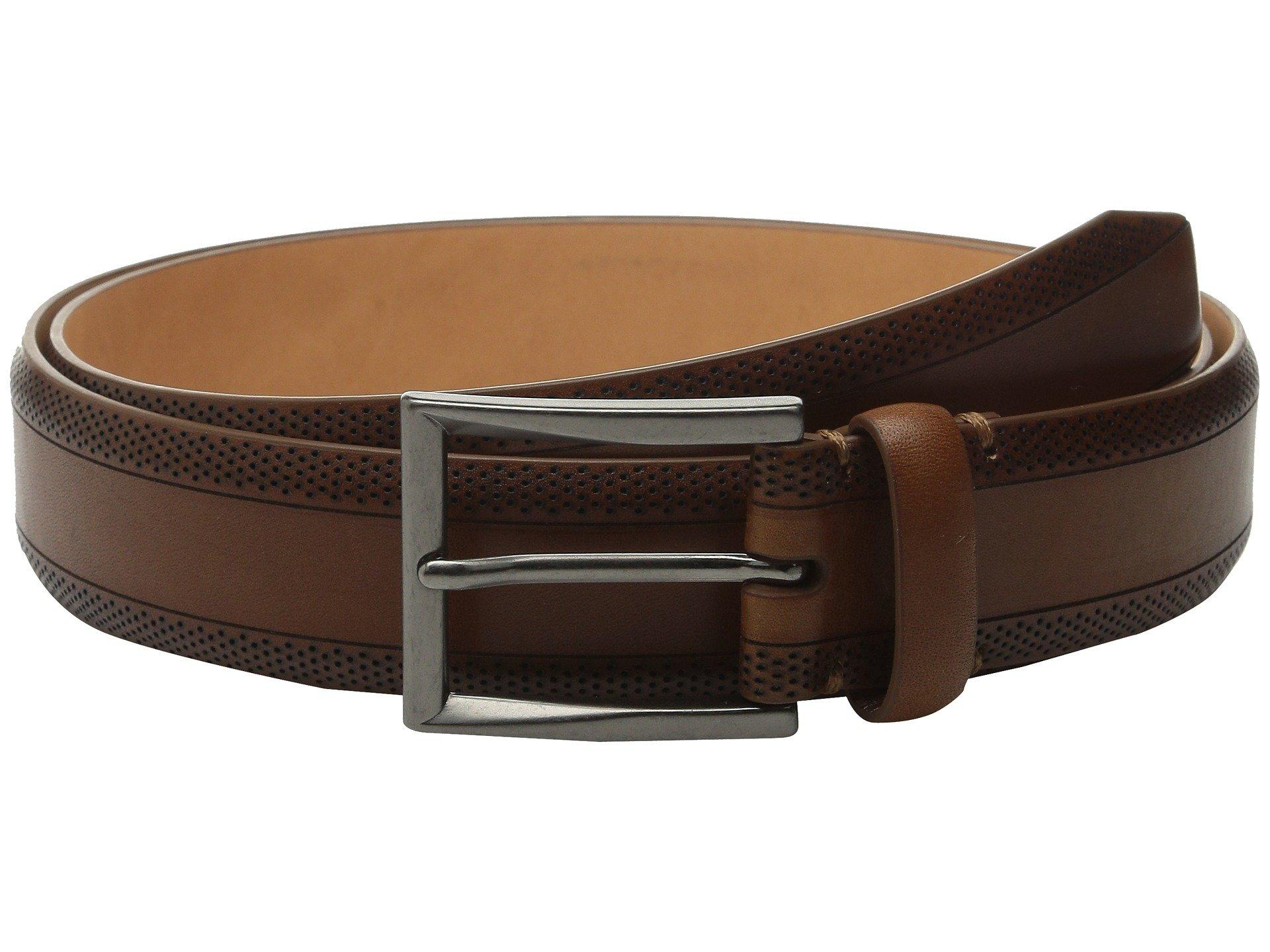 Tommy Bahama Vegetable Tanned Leather W/ Perforated Edges