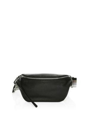 Rebecca Minkoff Bree Leather Belt Bag In Black