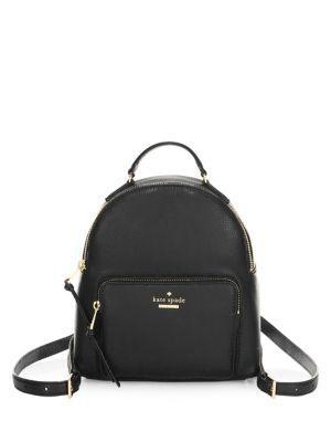 Kate Spade Jackson Street Keleigh Leather Backpack In Black