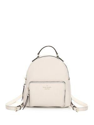 Kate Spade Jackson Street Keleigh Leather Backpack In Bone