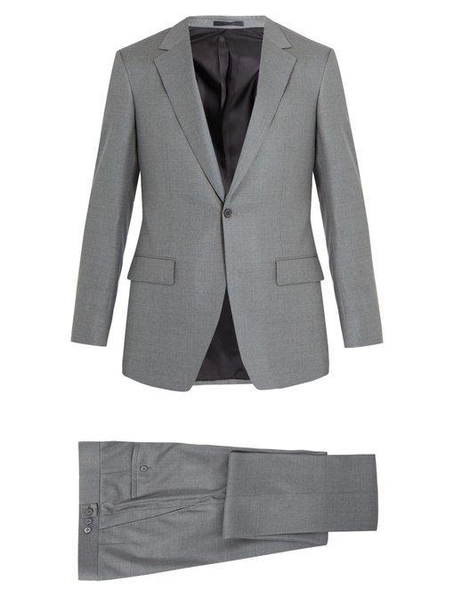 Kilgour Single-breasted Wool-crepe Suit In Light Grey