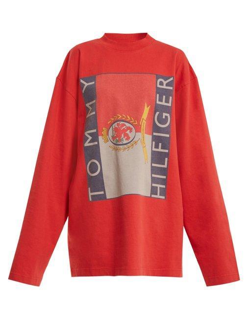 0fae2fee4 Vetements - X Tommy Hilfiger Logo Print Cotton Sweatshirt - Womens ...