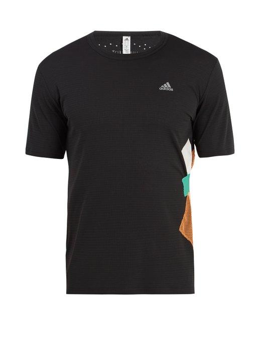 Adidas By Kolor Crew-neck Patchwork T-shirt In Black Multi