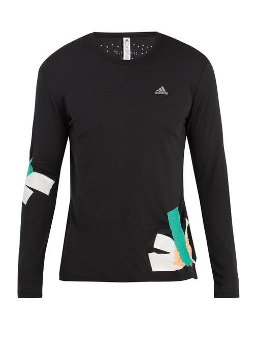 Adidas By Kolor Climachill Long-sleeved T-shirt In Black Multi