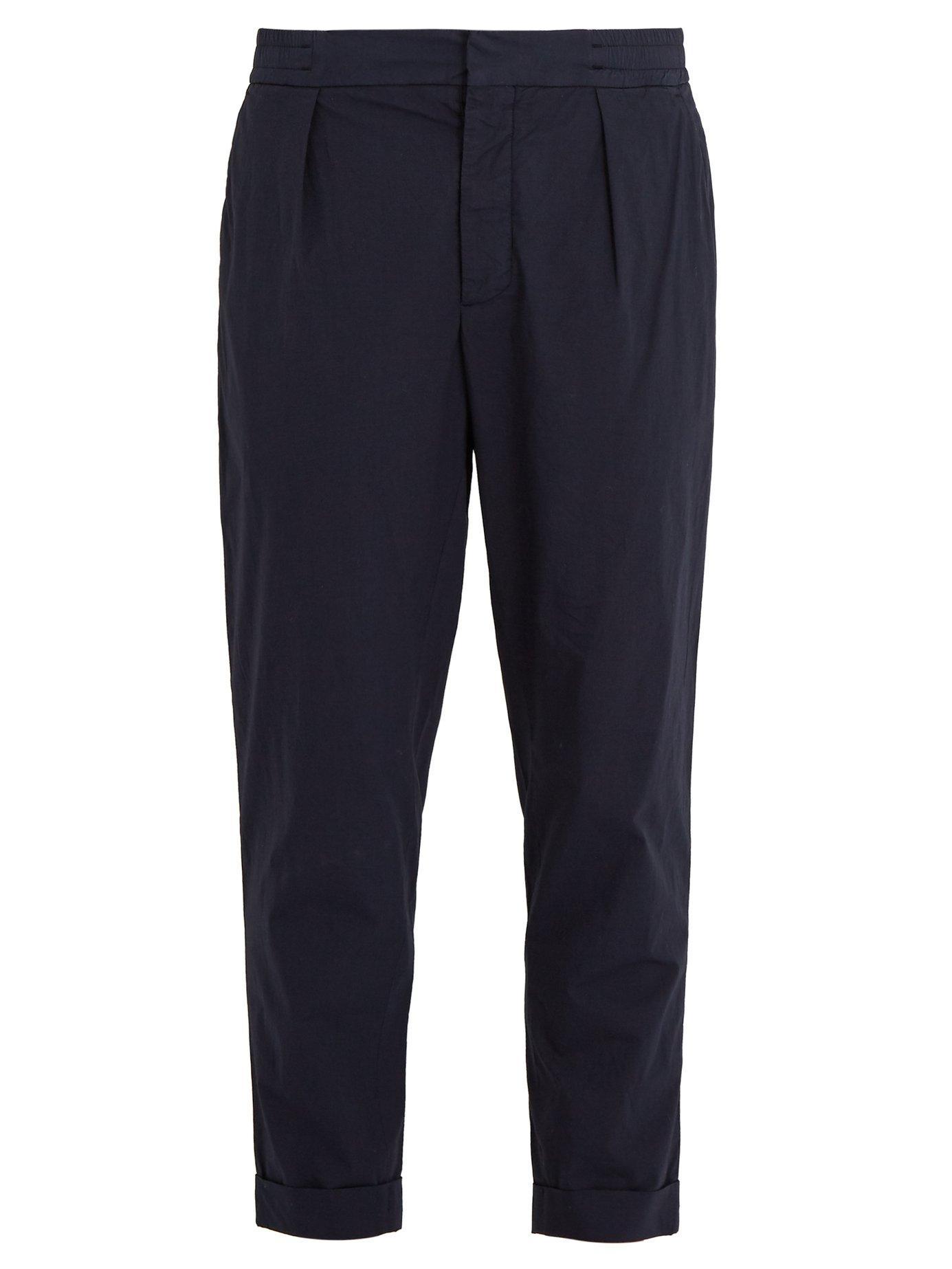 Barena Venezia Scaleter Virgin Wool-blend Track Pants In Navy
