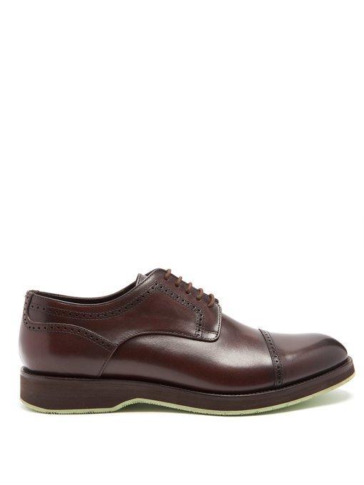 Harrys Of London Jack Leather Brogues In Dark Brown