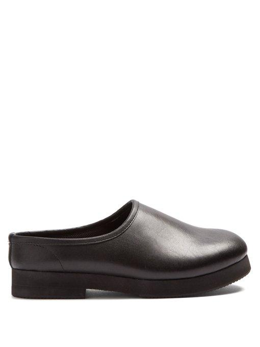 Junya Watanabe Leather Loafers In Black