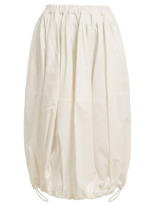 Junya Watanabe Cotton Balloon Skirt In Ivory