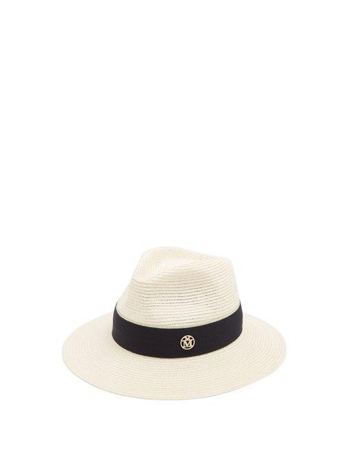 a88609d47f2d96 Maison Michel Rico Straw Hat In White | ModeSens