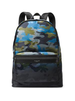 Michael Kors Men's Nylon Rucksack Backpack Travel In Blue