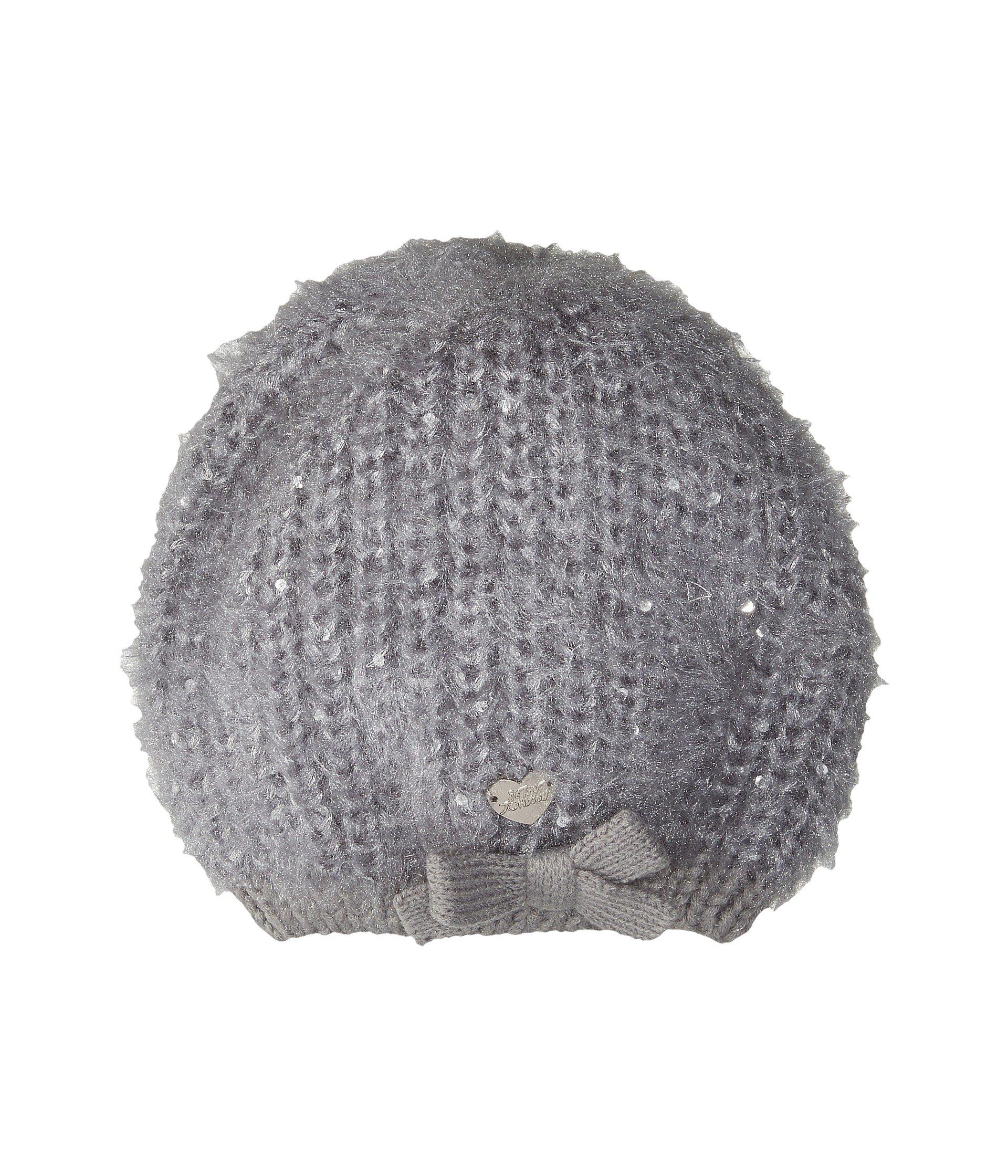 Betsey Johnson Pearl Crazy Beret In Grey
