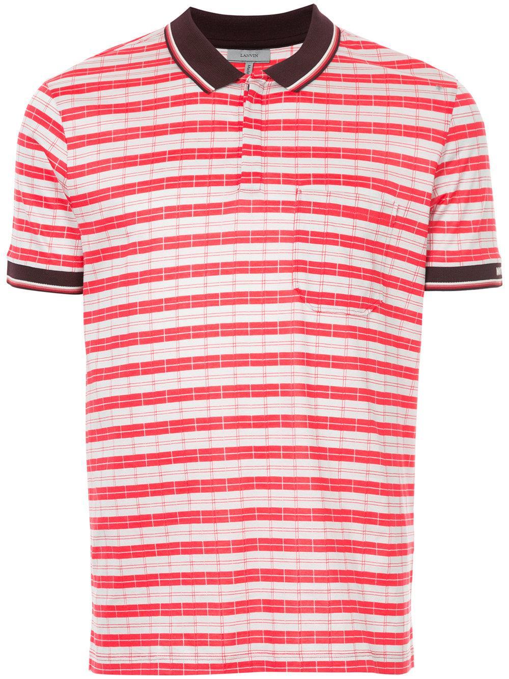 Lanvin Casual Striped Polo Shirt