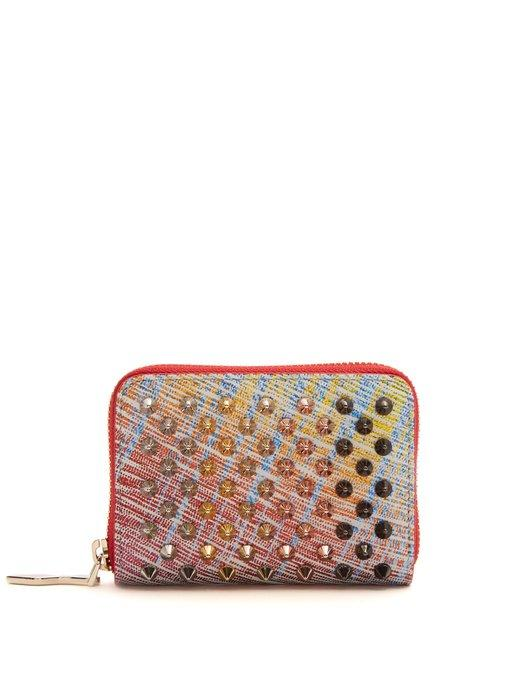 Christian Louboutin Panettone Suede Coin Purse In Multi