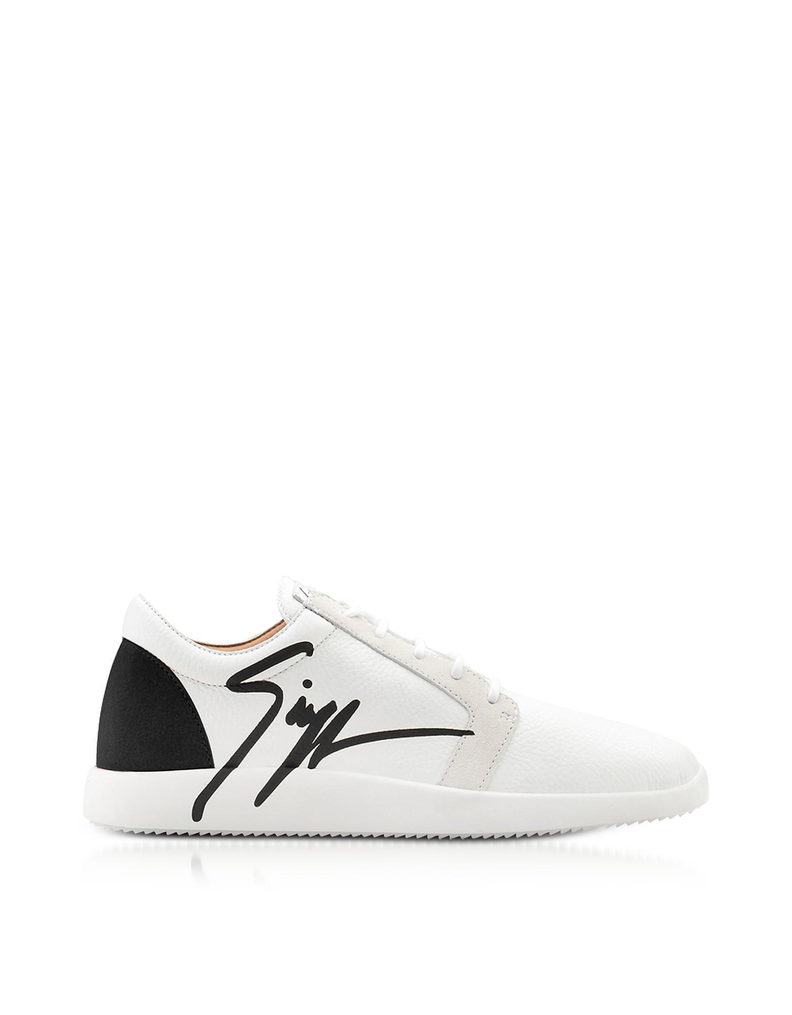 Giuseppe Zanotti G Runner Black And White Low Top Men's Sneakers