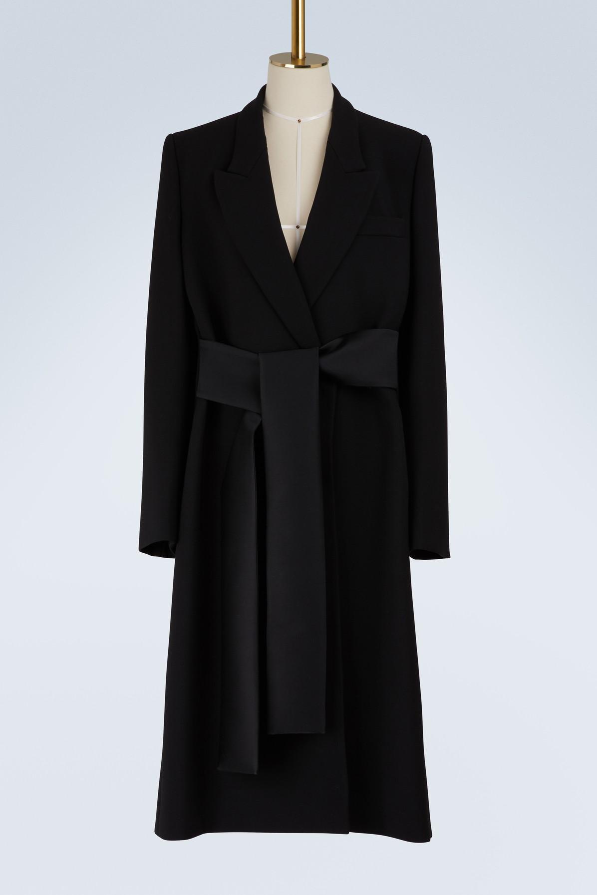 Stella Mccartney Nina Wool Blend Coat In 1000 - Black