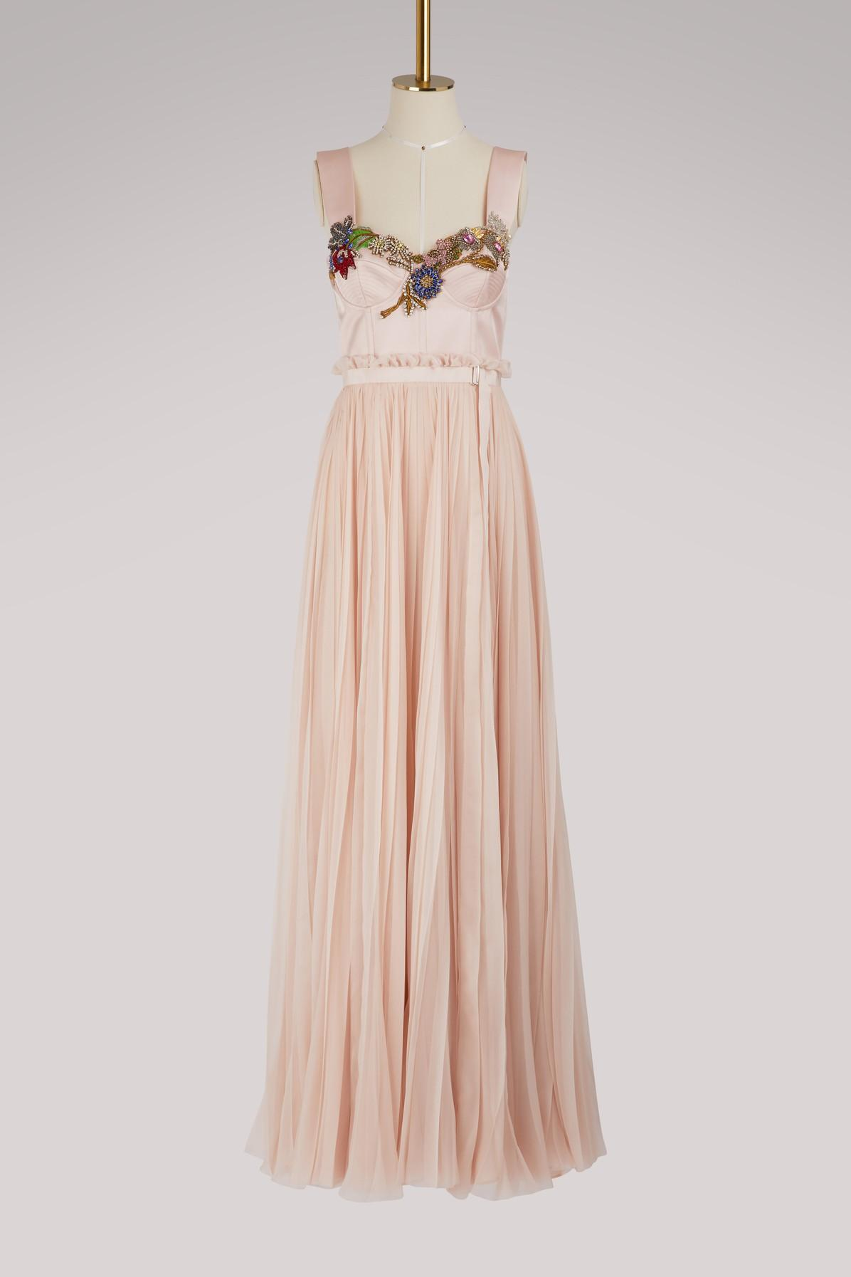 Alexander Mcqueen Silk Maxi Dress In 5855 - Petal