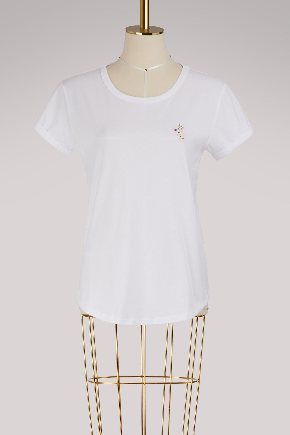 Maison Labiche Mystic Hand Cotton T-shirt In White
