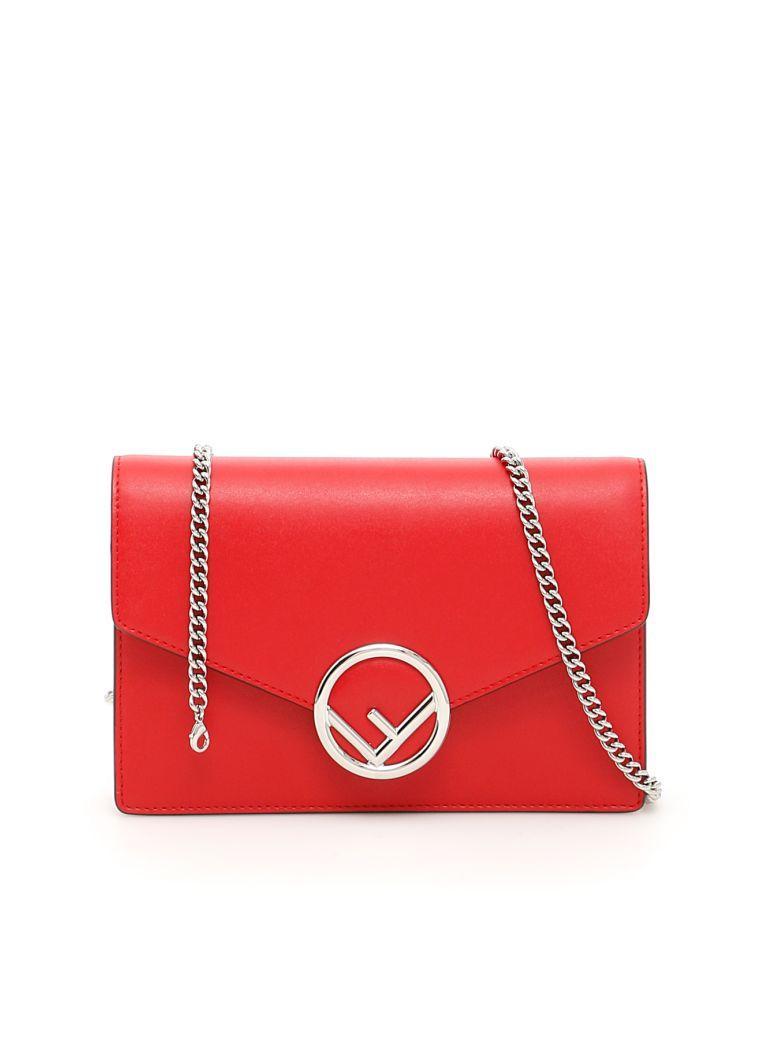 Fendi Crossbody Minibag In Fiamma Palladiorosso