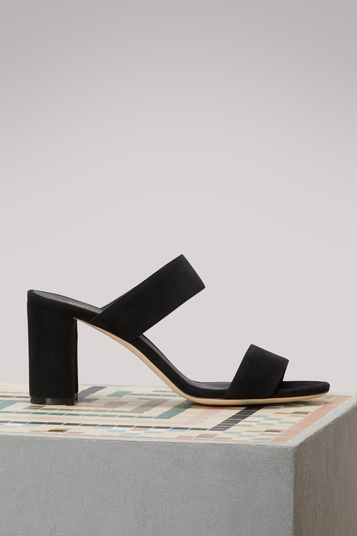 Repetto Entrecroise Heeled Sandals In Noir (black)
