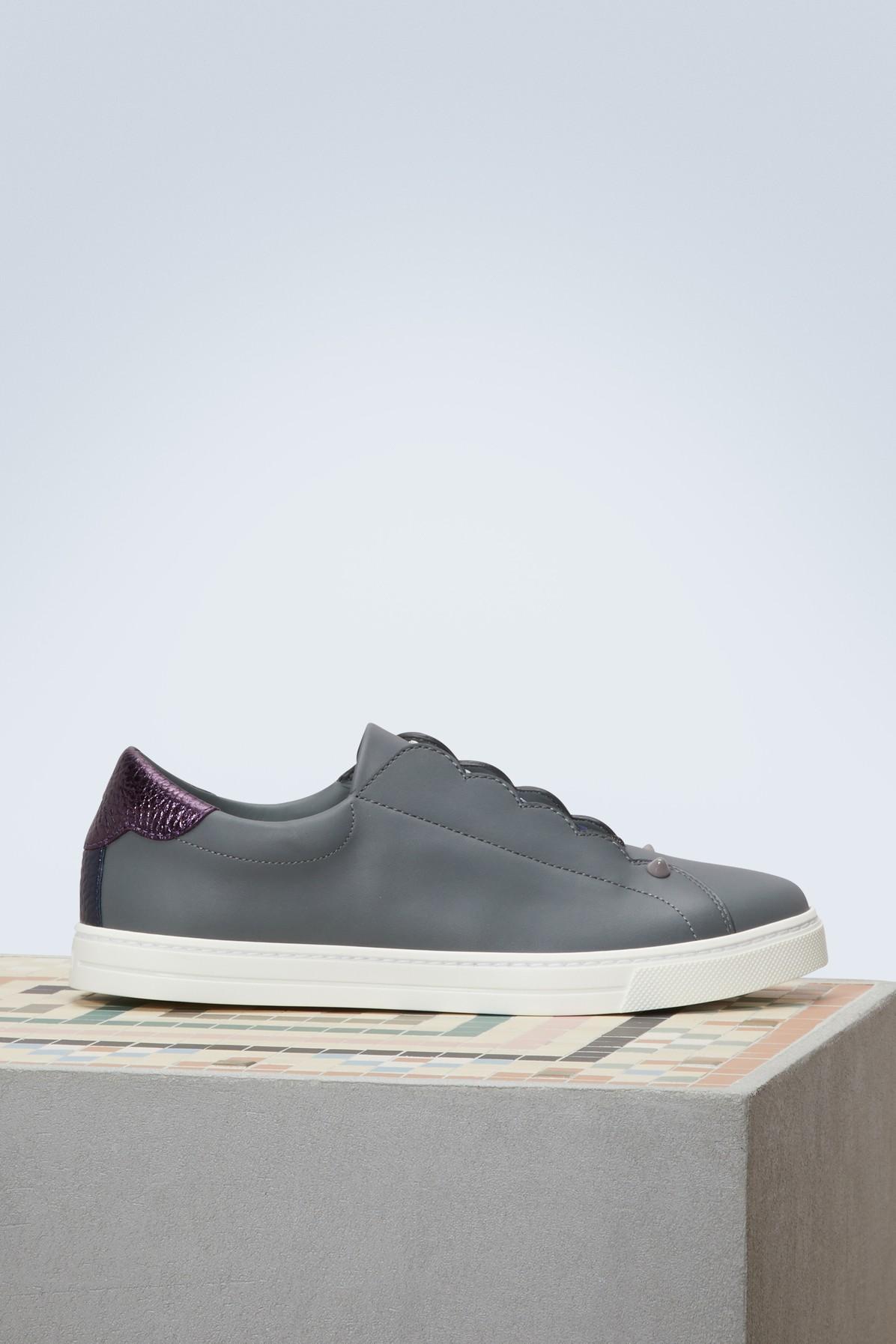 Fendi Low-top Sneakers In Alg+amar+b.berry+mlc