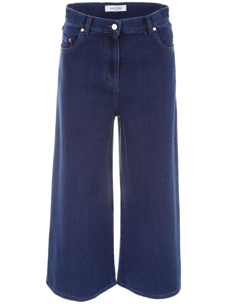 Valentino Cropped Jeans In Denim (blue)