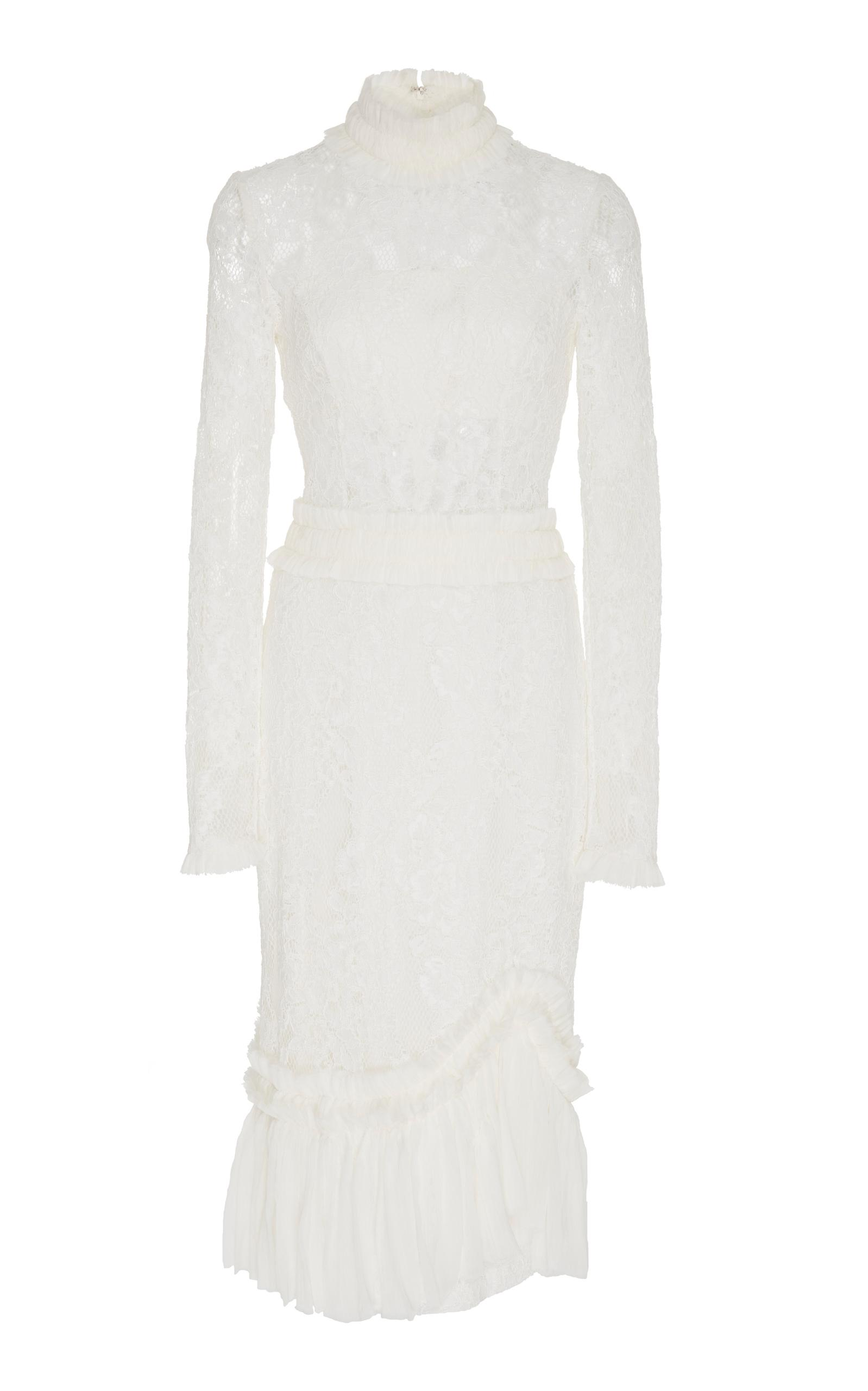 Alexis Anabella Long Sleeve Midi Dress In White