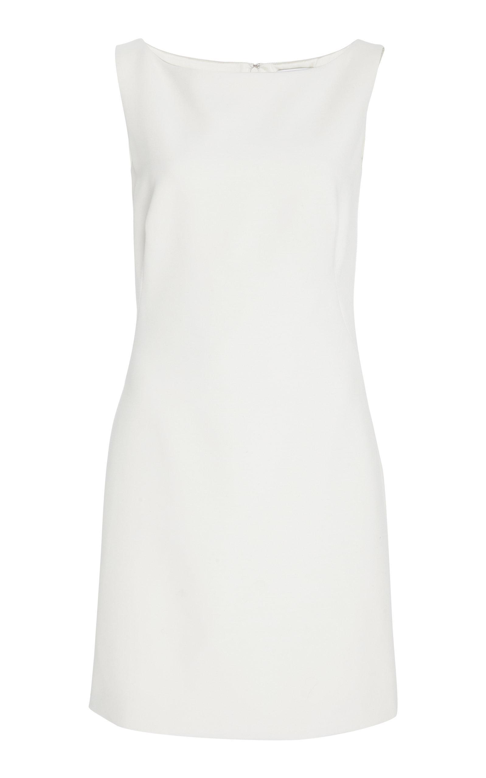 Pamella Roland Sheath Shift Dress In White